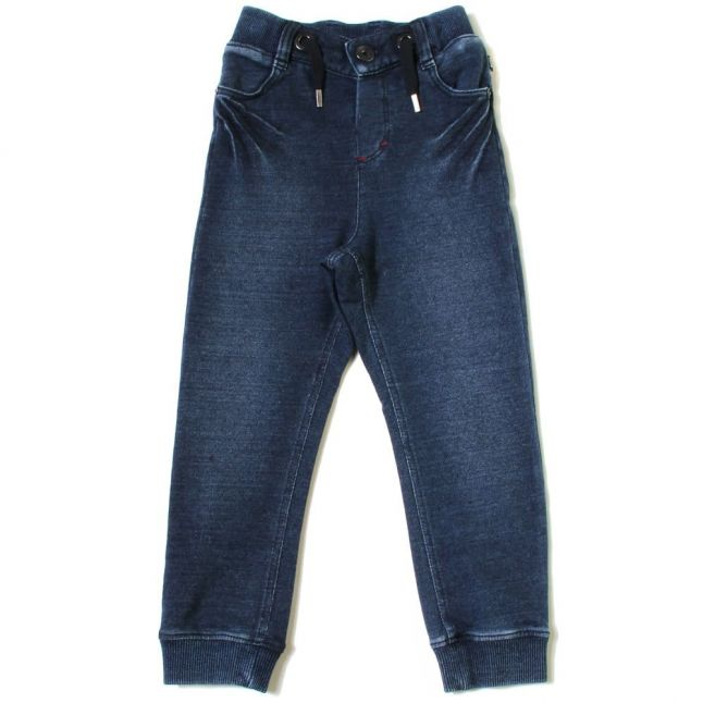 Boys Blue Denim Wash Jog Pants