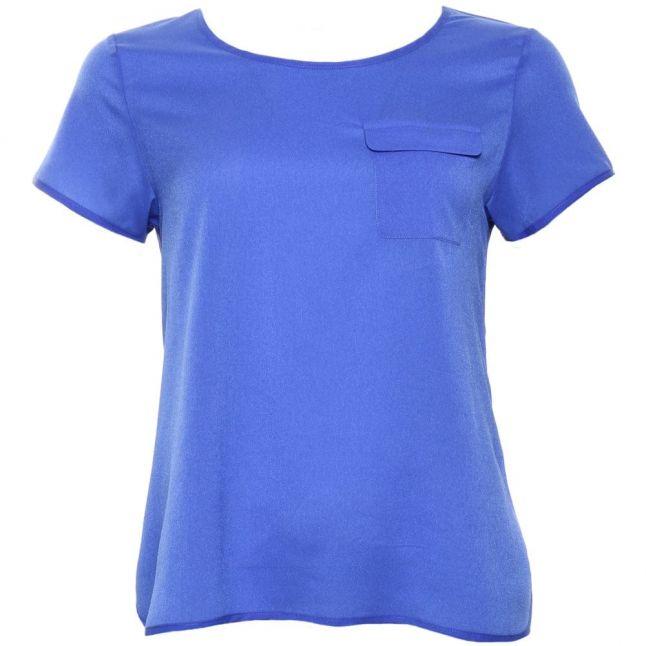 Womens Empire Blue Polly Plains Classic Pocket Top