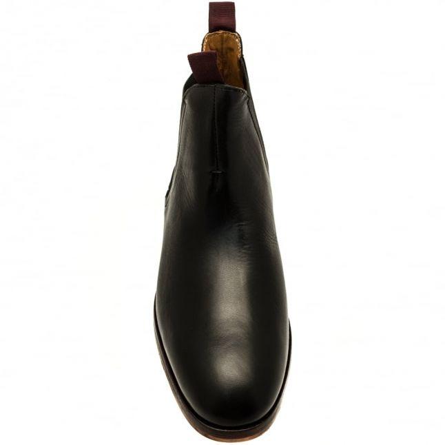 H By Hudson Mens Black Tamper Leather Chelsea Boots