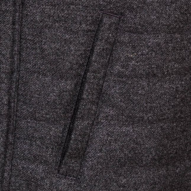 Heritage Mens Grey Marl Ruthwell Wool Overshirt