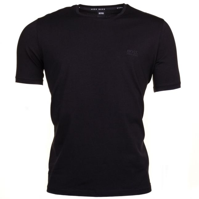 Mens Black Embroidered Logo Lounge S/s Tee Shirt