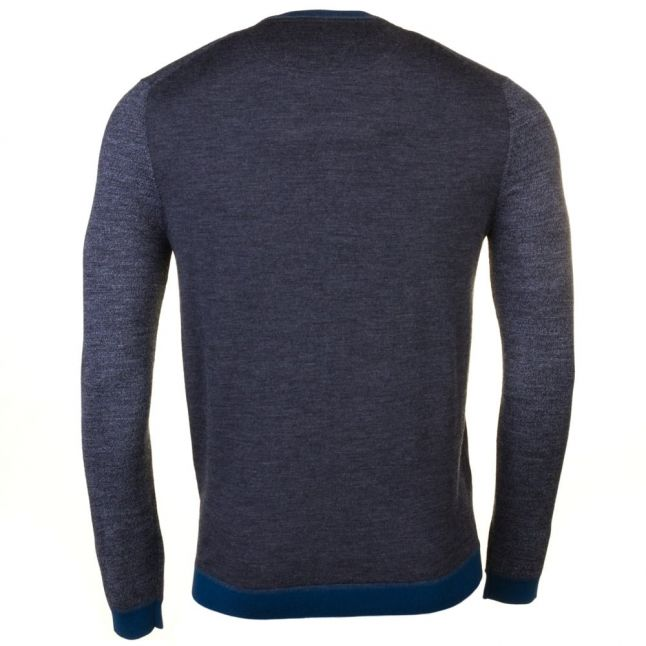 Mens Charcoal Cambell Crew Knitted Jumper