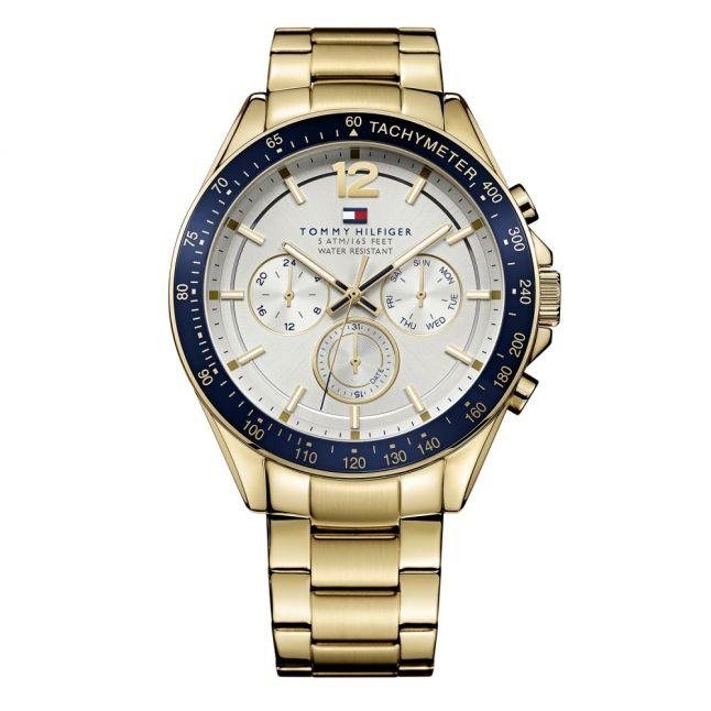 Mens Gold/Blue/White Luke Bracelet Watch