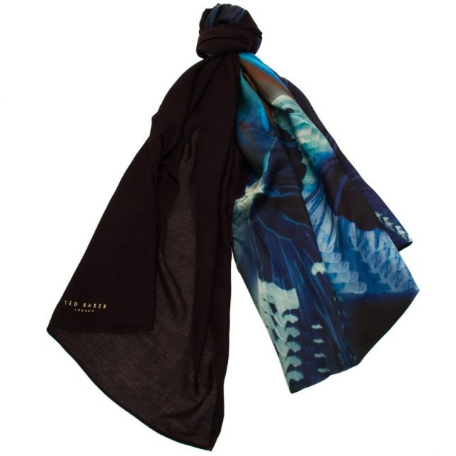 Womens Black Milae Butterfly Collective Split Scarf