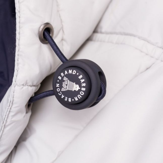 Lifestyle Womens Silver Ice & Navy Landry Baffle Quilted Jacket