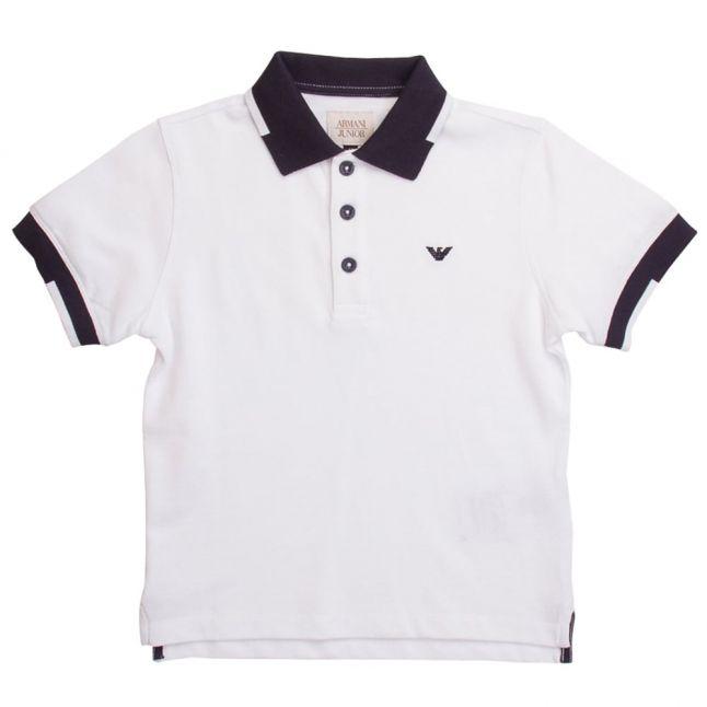 Boys White S/s Polo Shirt
