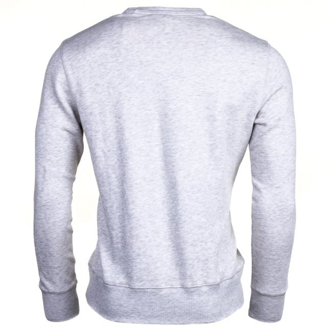 Mens Original Grey Arch Logo Crew Sweat Top