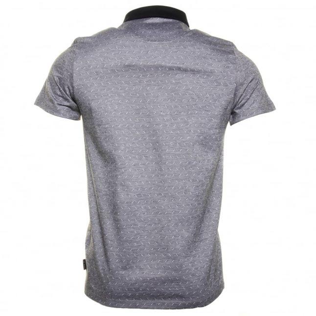 Mens Navy Eletrik Jacquard S/s Polo Shirt