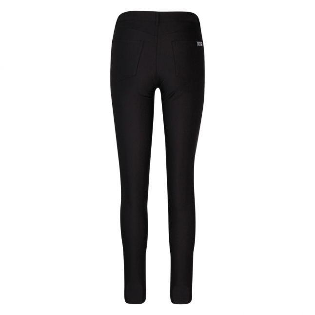 Womens Black Shiny High Waist Pants