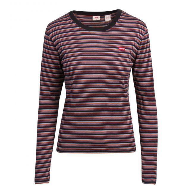 Womens Caviar Stripe Stripe Baby Tee L/s T Shirt