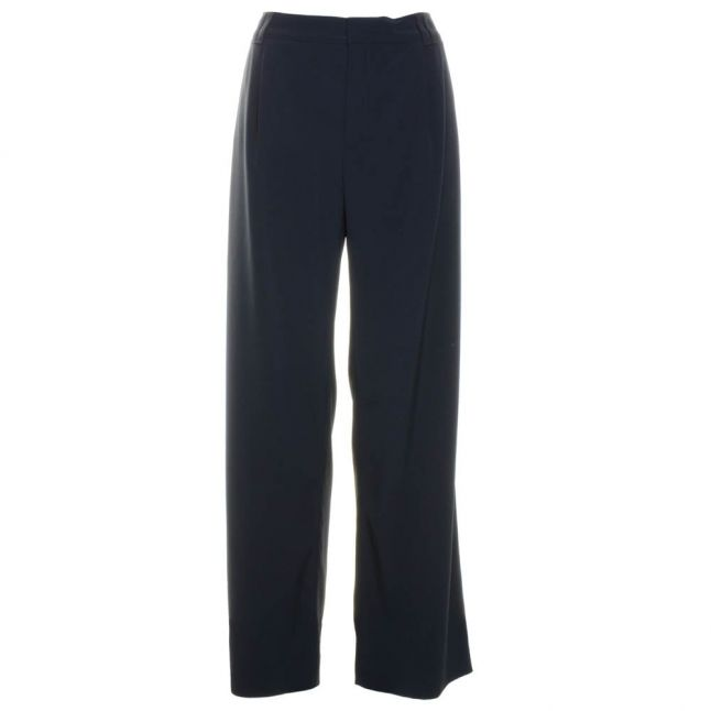 Womens Dark Blue Slouchy Trousers