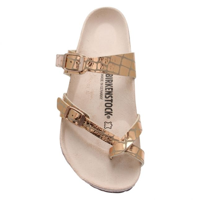 Womens Rose Gold Mayari Gator Gleam Sandals