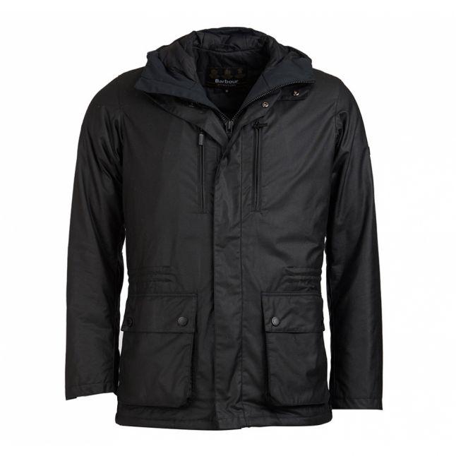 Mens Black Tour Waxed Coat