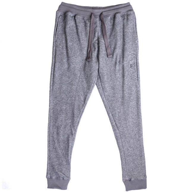 Mens Grey Cuffed Lounge Pants