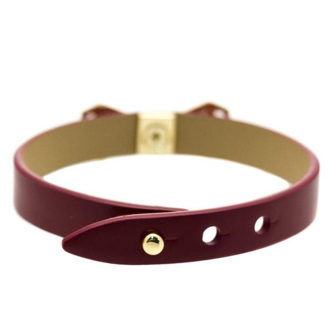 Womens Oxblood Addaley Geometric Bow Bracelet