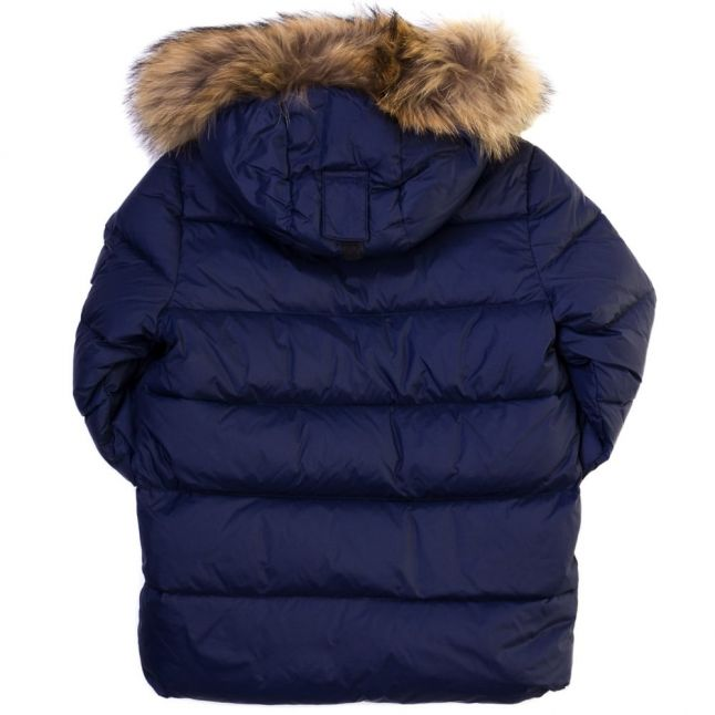 Boys Amiral Authentic Fur Hooded Matte Jacket (8yr+)