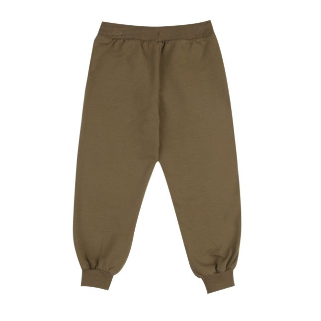 Boys Dark Olive Embroidered Toy Sweat Pants