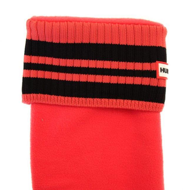 Womens Bright Watermelon Tall Sport Ribbed Cuff Wellington Socks