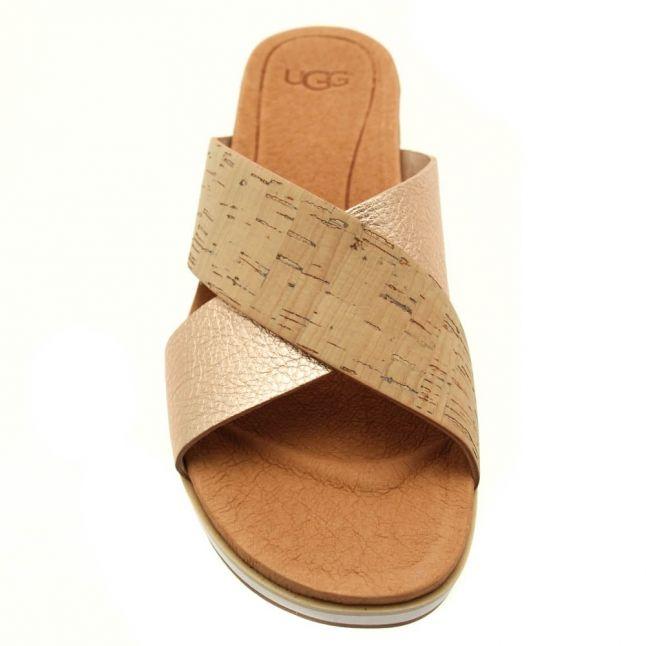 Womens Cork & Rose Gold Kari Slide Sandals