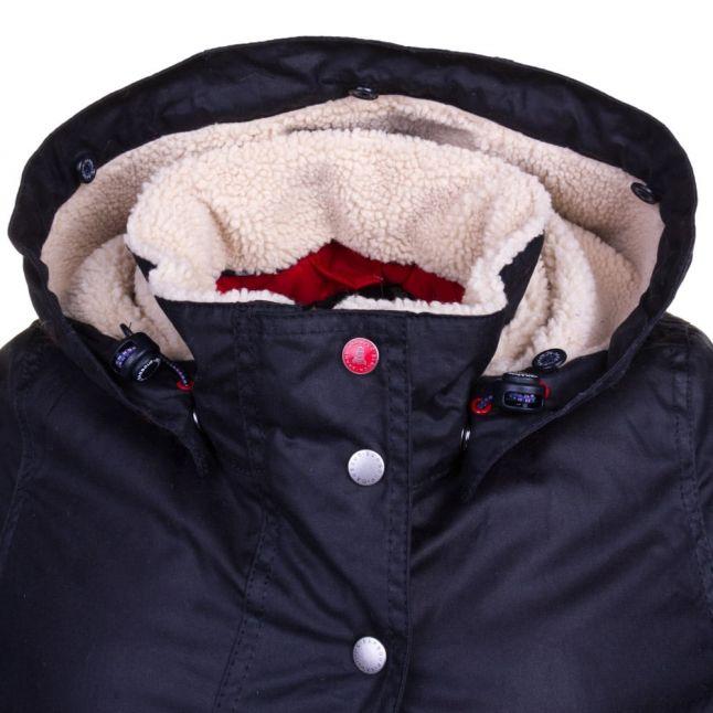 Lifestyle Womens Navy Crevasse Waxed Jacket