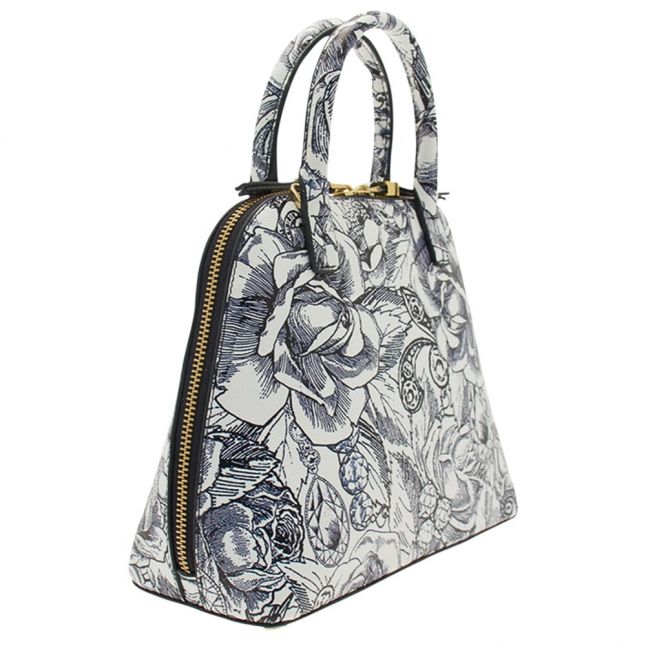 Womens Chalk & Navy Bobbi Small Mini Grain Bag
