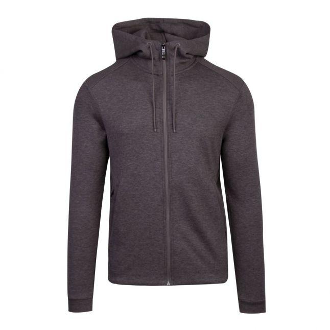 Athleisure Mens Medium Grey Saggy Hooded Zip Through Sweat Top