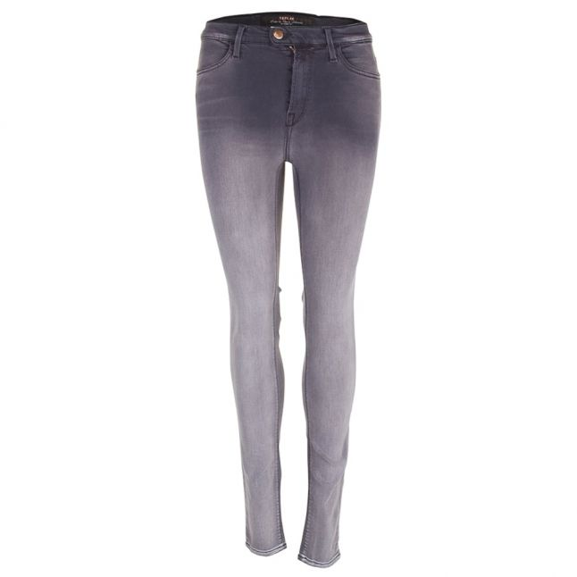 Womens Grey Super High Rise Touch Skinny Fit Jeans