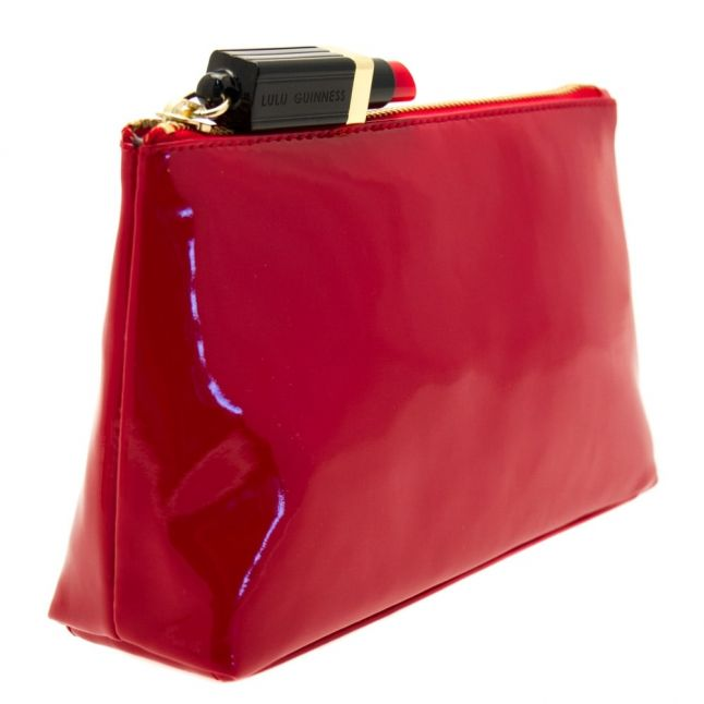 Womens Red Patent T-Seam Pouch