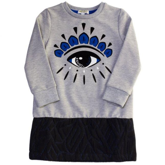 Girls Marl Grey Altesse Eye Dress