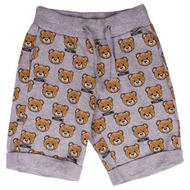 Boys Grey Melange Toy Print Sweat Shorts