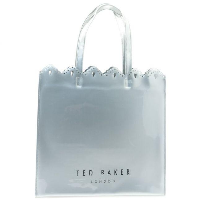 Womens Silver Belacon Scalloped Edge Large Icon Bag