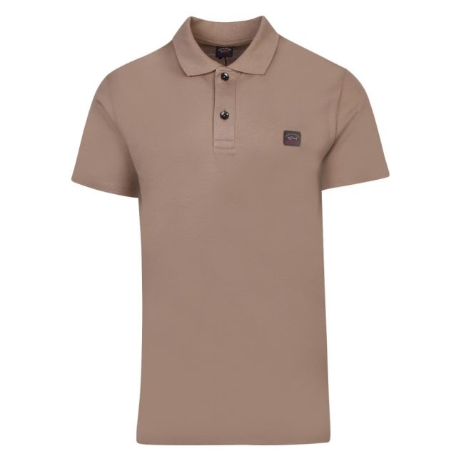 Mens Biscuit Classic Logo Custom Fit S/s Polo Shirt