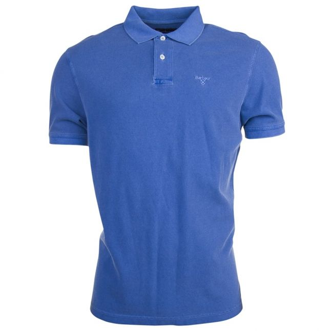 Lifestyle Mens Blue Washed Sports S/s Polo Shirt