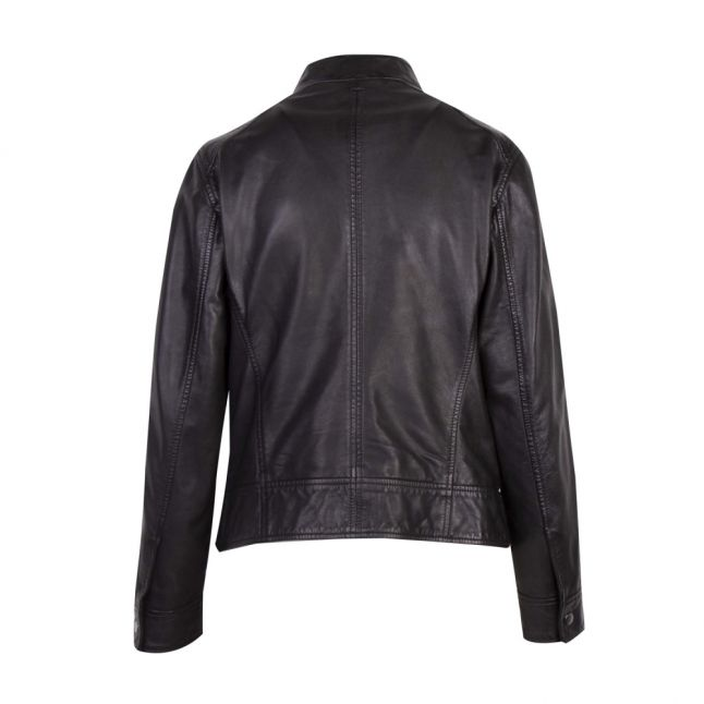 Casual Womens Black Jameggy Leather Jacket