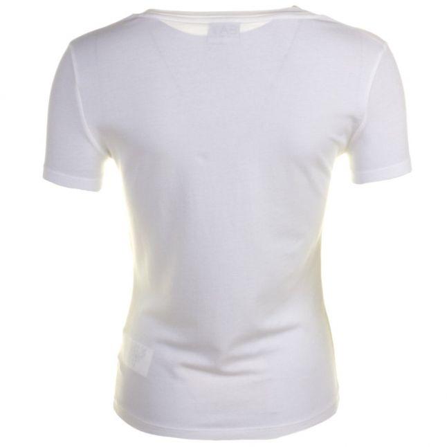 Womens White Training Logo Series Diamante S/s Tee Shirt