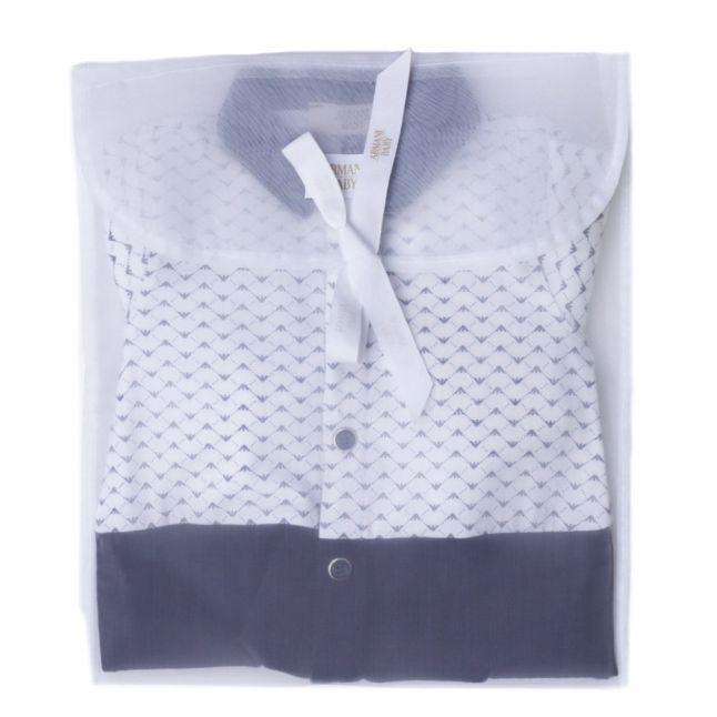 Baby Navy Polo Shirt Babygrow