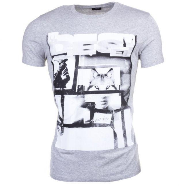 Mens Grey T-Diego-Hf S/s Tee Shirt