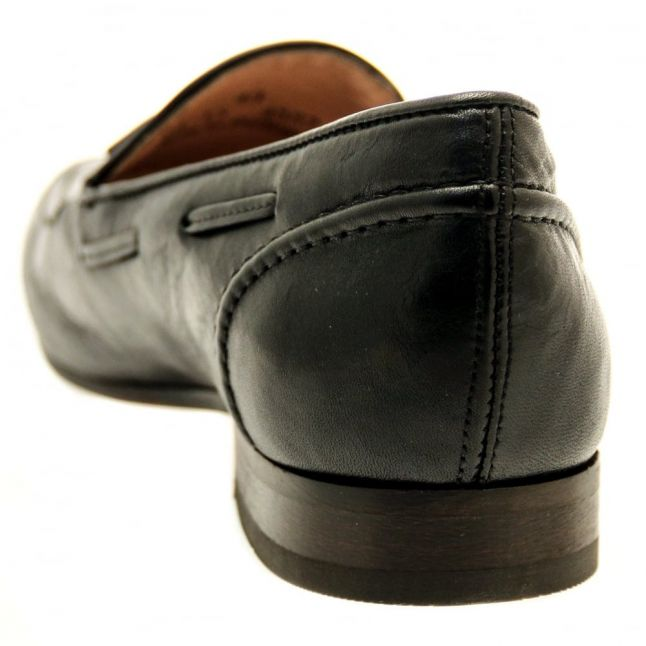 H By Hudson Mens Black Pierre Loafers