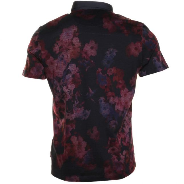 Mens Grape Perpool Floral Printed S/s Polo shirt