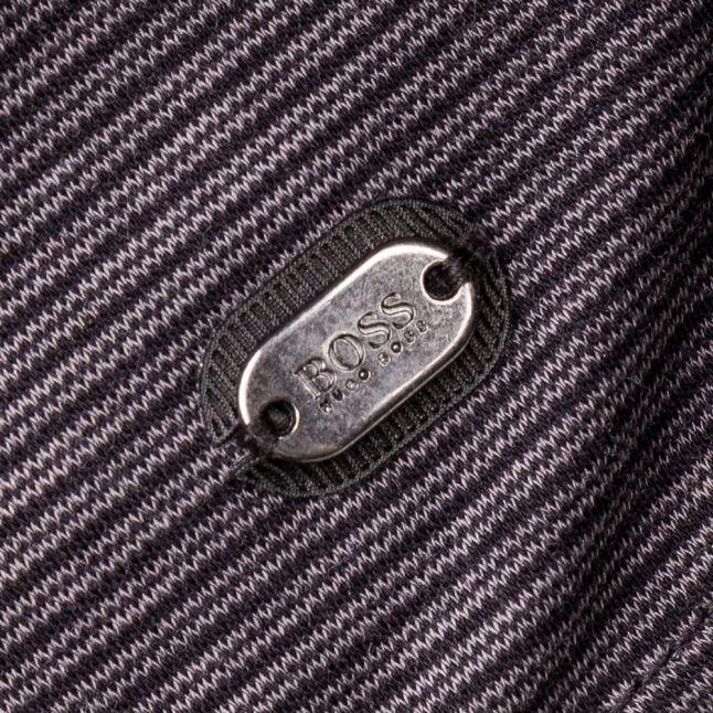 Mens Black C- Prato L/s Polo Shirt
