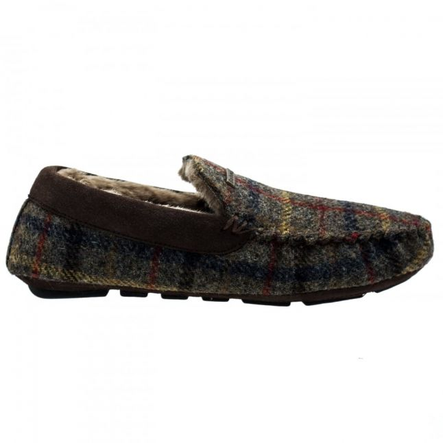 Lifestyle Mens Olive Monty Moccasin Slippers
