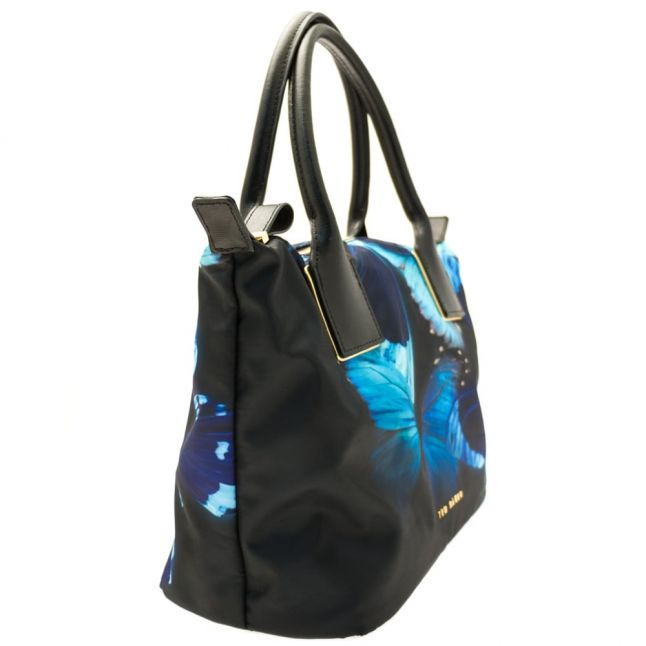 Womens Black Butterfly Collective Tarika Nylon Small Tote Bag