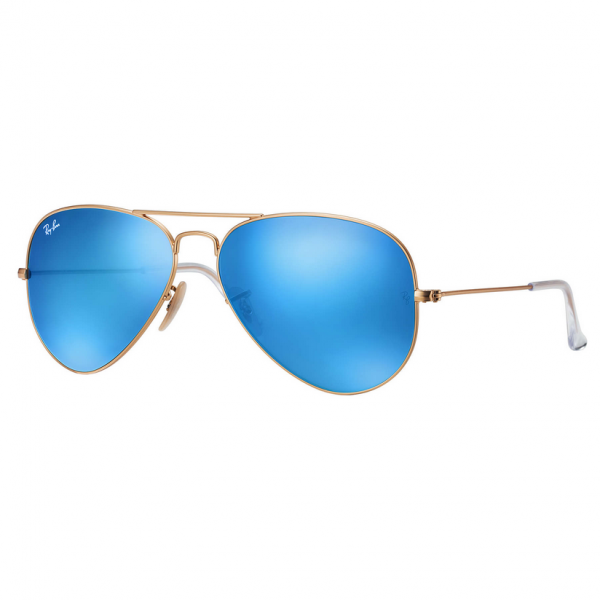 Gold & Blue Flash RB3025 Aviator Large Sunglasses