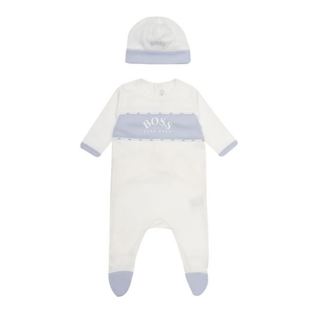 Baby White Babygrow & Hat Gift Set