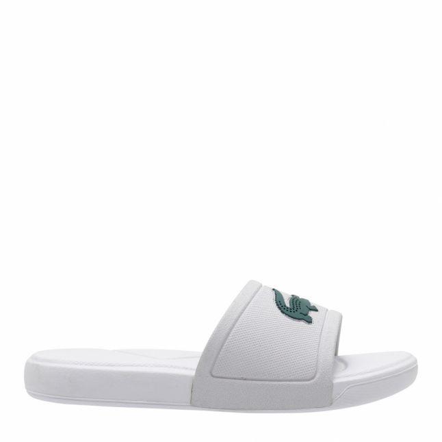 Child White/Green L.30 Croc Slides (10-1)