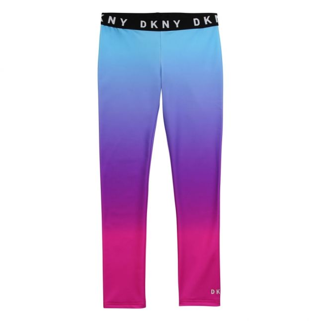 Girls Pink/Blue Ombre Leggings