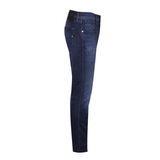 Mens Dark Blue Wash Anbass Hyperflex Slim Fit Jeans