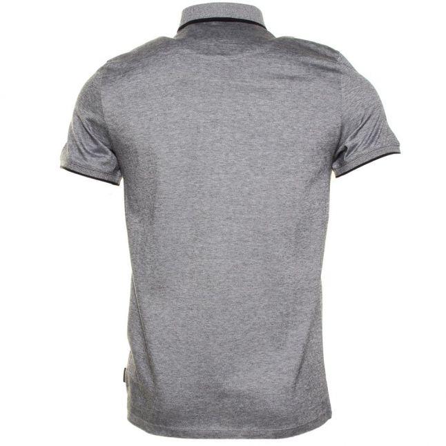 Mens Navy Taytay Block Collar Oxford S/s Polo Shirt