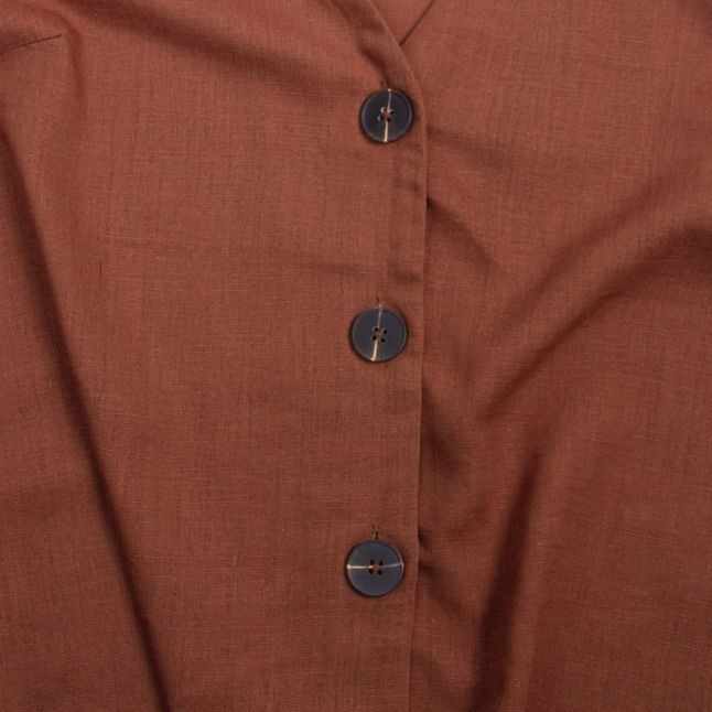 Womens Rawhide Vimonellie Button S/s Top