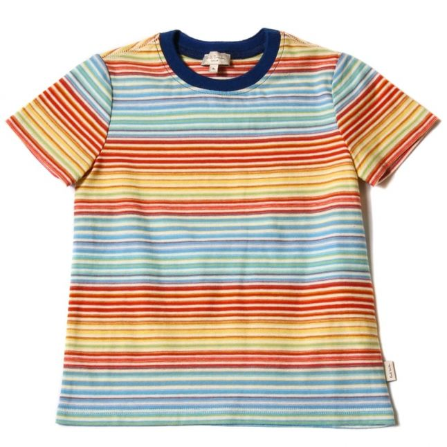 Boys Antique White Lilouan Striped S/s Tee shirt